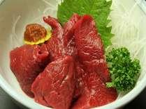 【會津名物馬刺し】辛子味噌と一緒にどうぞ♪