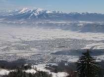 富良野スキー場から雄大な十勝岳の山々を一望!