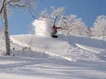 富良野スキー場はホテルからお車で約10分 初心者から上級者まで納得のコース