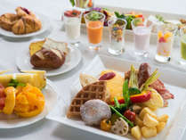 【朝食ビュッフェ】日替わりでもちもちのワッフルやフレンチトーストが人気♪洋食盛り付け例
