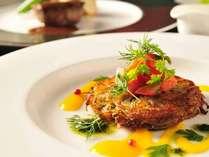*【夕食一例『八甲田』のオードブル】青森県小川原湖産 白魚のギャレット 二種ソース