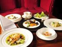 *【夕食一例『白神』】森のリゾートで食す上品なフランス料理。