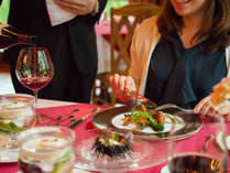 *【夕食(フレンチコース一例)】青森の旬の食材をたっぷりと活かした料理の数々。