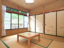 8畳和室(一例)陽ざしの差し込む明るい和室で、ゆっくりとお過ごし下さい。