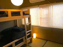 個室 ベッド和室C[ヒノキ2段ベッド 1台] - 最大2名様