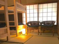 個室 ベッド和室[ヒノキ2段ベッド 2台] - 最大4名様
