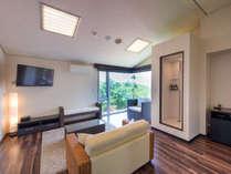 【スイート】半露天風呂付客室 広めのフローリングタイプのお部屋