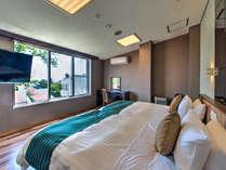 【スイート】半露天風呂付客室 全館ハリウッドツインとなっております。