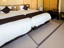 【大室】半露天風呂付客室 シモンズ製ベッドで快適な睡眠を