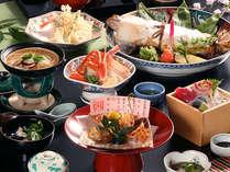 宍道湖七珍味の一つ、すずきの奉書焼きを入れた会席料理。