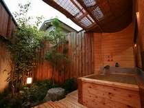 客室の露天風呂/一例