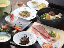 信州牛の溶岩焼き創作コース(本館レストラン)~地元や信州の食材を余す事無く活かした創作料理