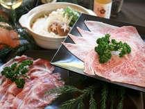 夕食:選べる信州牛の鍋料理