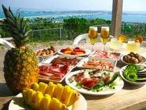 美ら橋厳選の美ら橋セット、品数豊富なお肉、野菜類他、海産物までついてくる豪華な食事プラン