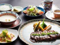 【平日限定】「小さなステーキコース」or「森のコース」チョイス <一泊2食付> 一人旅プラン
