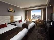 エクセルツイン。21階以上の高層階から、渋谷ならではの景色を楽しみ、ゆとりのひと時をお過ごしください。