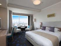 スーペリアダブル(パークビュー)22平米の客室に、幅160cmのダブルベッドをご用意しております。