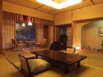 静かな離れ松林亭332号室・かけ流し露天風呂付・マッサージ器・空気清浄機・DVDプレイヤー付