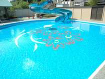 華の湯プールは25Mでウォータースライダー付。子供プールもありますよ。