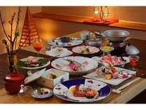 風舞ご夕食一例。月替わりの一品をどうぞ