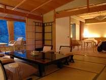 【華風館特別室】ロイヤルフロア特別室12.5+TW 107平米の広さ!かけ流し露天風呂付特別室