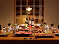 <あさかの里>網焼き&「ふるさと一品コーナー」よりお好みのお料理をお召し上がりください。
