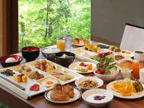 朝食ビュッフェの一例