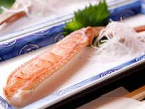 新鮮だからこそ食べられる蟹刺しです。蟹の甘みが口の中に広がります。是非一度ご賞味ください♪