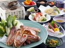 【冬】アワビの踊り焼き付きカニ料理5品付きお手軽会席プラン (眺望レストラン)