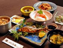 【ご夕食グレードアップ!】四季折々の地元の山菜や川魚、大山おこわが付いた贅沢満喫プラン!