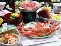 ■【夕食】メニュ一例。海の幸、山の幸をバランスよくご用意しました♪