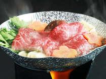■【夕食】上州牛すき焼き☆程よい脂の乗りでアキが来ない美味しさです♪