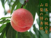 【平日】★御坂農園★で桃狩りと約80種類の豪華バイキングプラン♪