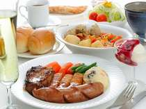 豊かな味わい♪手作りハンバーグセット♪予約時に+500円でステーキに変更も可能です♪