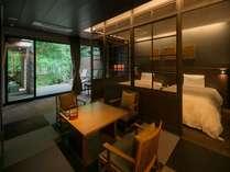 【 せい楓 -seifu- 露天風呂付き客室 】 ~ リバービュー側 ~ 雨の日でも安心 屋根付露天風呂