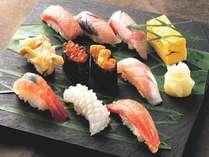 地漁寿司をどーんと盛った厳選特上にぎり10貫