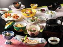 夕食「梅」会席料理一例(2018年4月~6月)