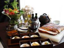 朝食イメージ。「四国味紀行」をコンセプトに、四国四県の食材を使用した御食事をご提供します。