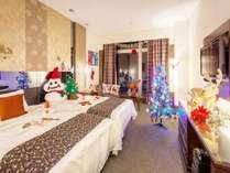 最上階15階、プレミアムフロアのクリスマスルーム。お部屋は人気のオーシャンビュー確約!