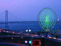 明石海峡大橋★ライトアップが綺麗です!!