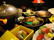 【夕食一例】旅の楽しみの一つは食事の時間。大切な思い出を作ってくださいね!