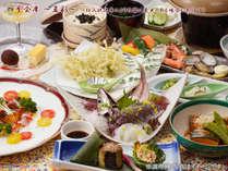 【感謝SALE】彩りの旬食材【四季会席~夏彩~】アジの姿造り、海鮮陶板焼き、甘鯛≪人気・満足度UP≫