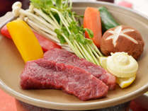 【萩の特産牛】 お肉好き必見! 萩の特産牛肉≪ 見蘭牛 ≫の陶板焼きが食べれる♪ 【見蘭牛付会席】