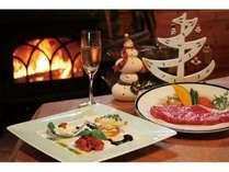 クリスマスディナーのイメージ。画像はイメージですので、ご夕食内容はプラン説明をご覧下さい。