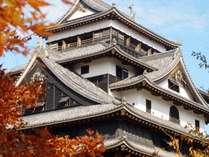 秋の松江城のイメージ