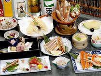 【蟹満載会席一例】蟹会席がグレードアップ★ほくほくの焼きガニもご賞味ください♪
