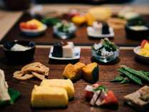 和朝食:内子の新鮮な食材を使った