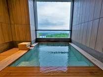 【無料貸切風呂】「森の湯」最上階にある露天風呂からは絶景を愉しめます。