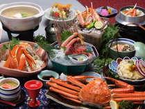 【かに会席★第2弾】SALEでお得!蟹尽くし会席★かに一杯付き♪ 蟹刺身とカニ鍋&かに釜飯と盛り沢山
