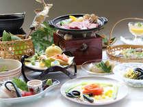 季節感溢れる地元食材をたっぷり使ったお料理(一例)